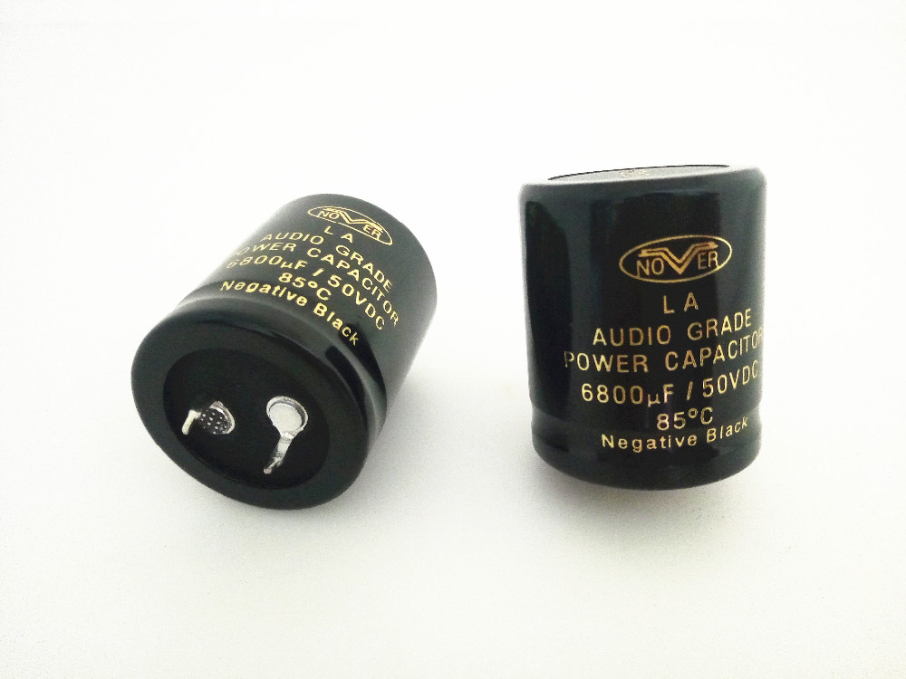 2pcs 6800uF//50V 85°C NOVER Audio Grade Power HiFi capacitor cap Negative Black