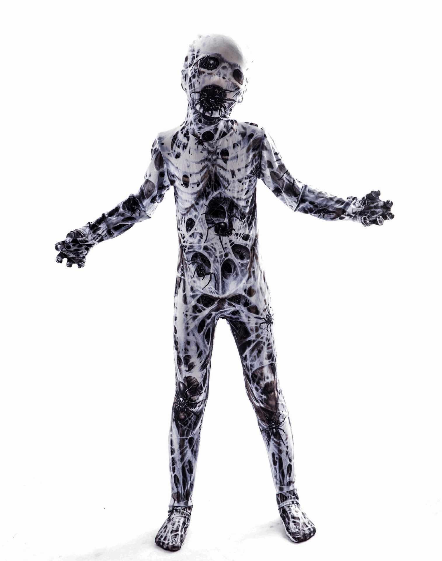 Variação de terror do dia das bruxas cosplay homem aranha horror sangrento roupas