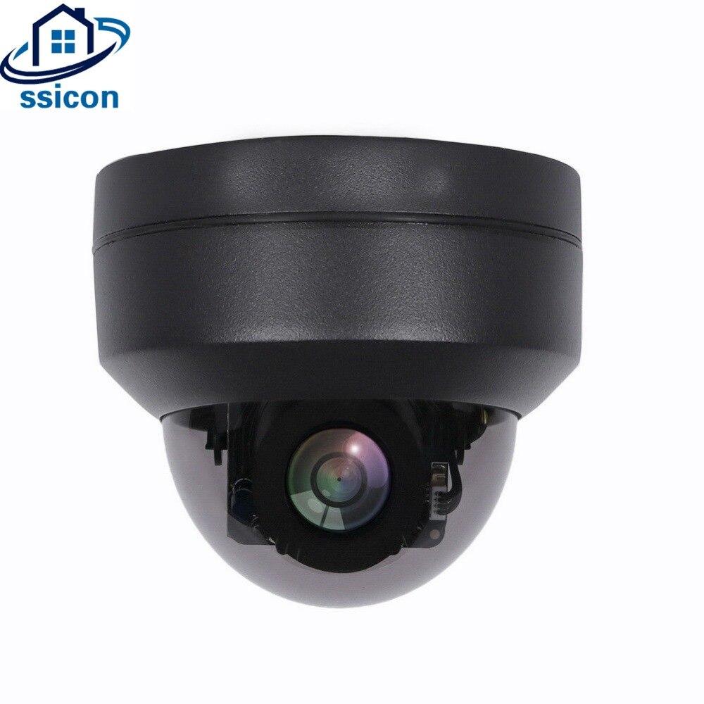 Ssicon 2.5 Polegada 2mp luz das estrelas câmera ip ptz 2.8-12mm lente motorizada 4x zoom sony307 sensor 1080 p poe câmera de segurança hisee app