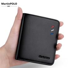 MartinPOLO Men Leather Brand Luxury Wallet Short Slim Male Purses Money Clip Credit Card Dollar Price Portomonee Carteria MP1002