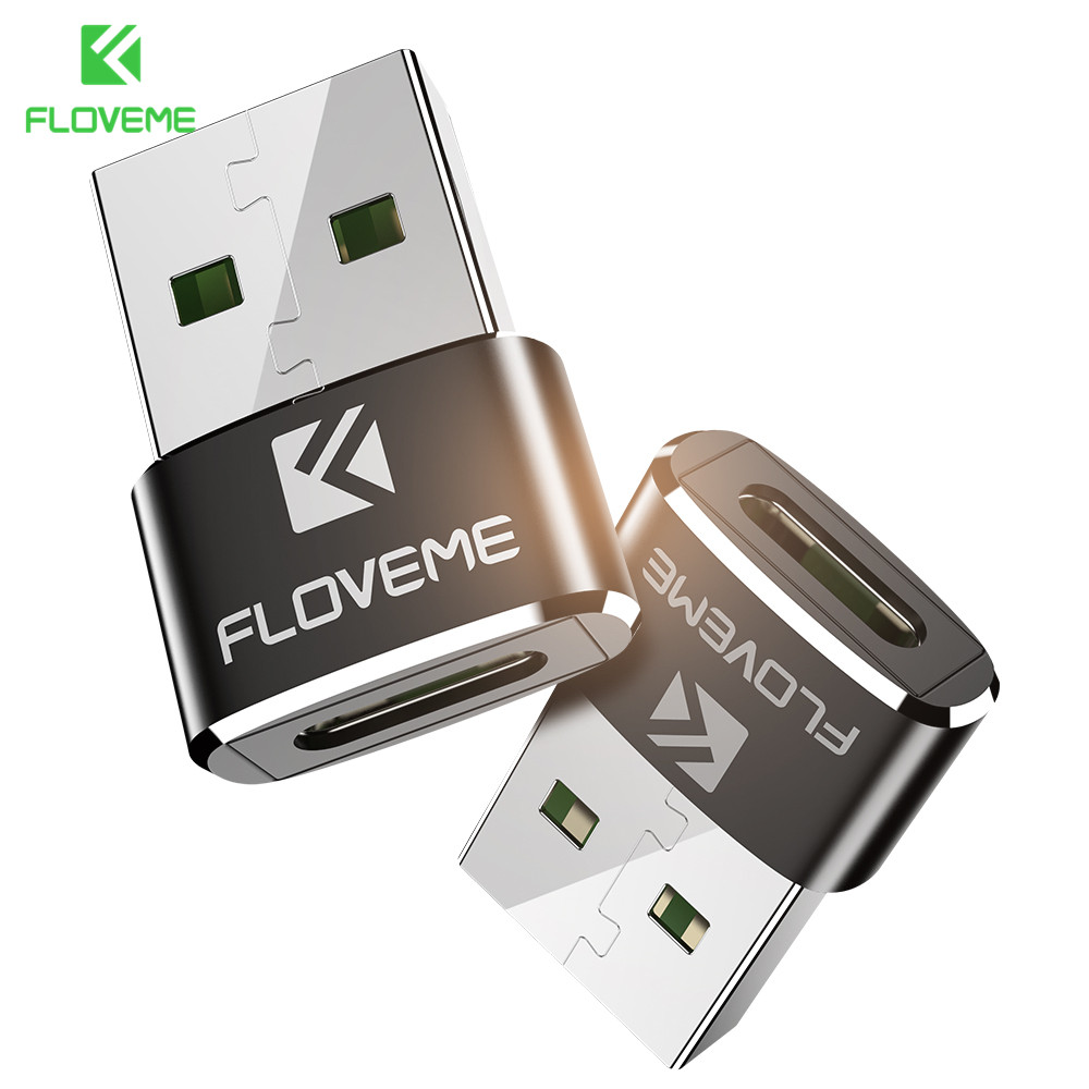 FLOVEME USB 2.0 To Type C OTG Adapter For Xiaomi 6 5 5s Aluminum Alloy Type C Female Converter Adapter For Tablet Charger Cable