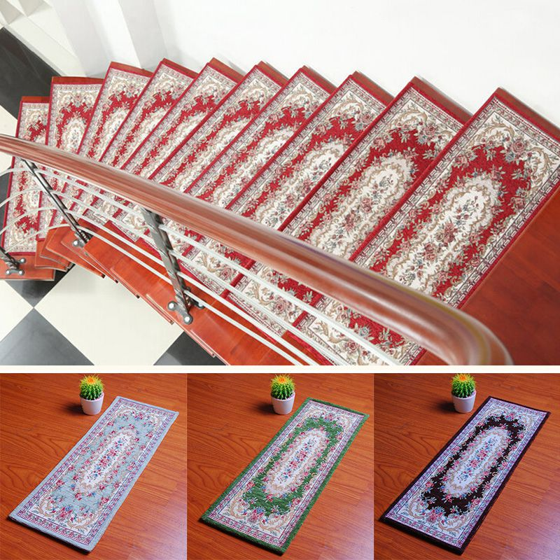 Wholesale 1pc Rectangle Stair Treads Tapete Non Slip Carpet Stair Mats Rugs  For Stairs Floor