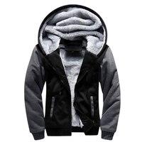 뜨거운 판매 폭격기 후드 캐주얼 브랜드 남성 후드 겨울 따뜻한 두꺼운 운동복 남성 스웨터 플러스 사이즈 5XL 3