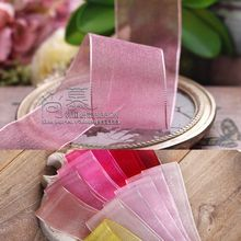 100yards 7/16/25/38mm korean organza sheer ribbon for bouquet gift packing hair bow accessories wedding party supplies