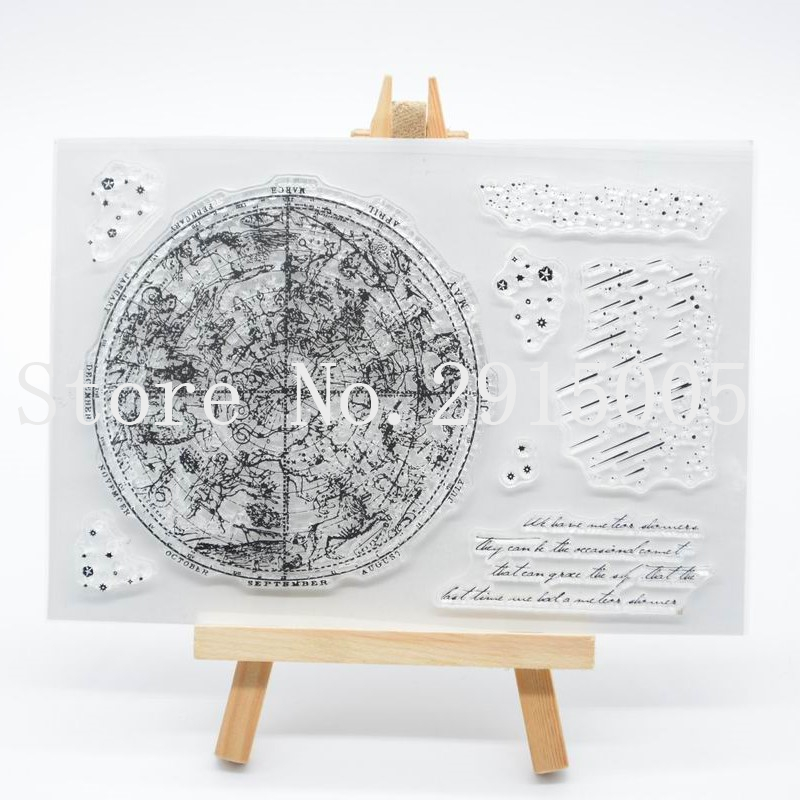 Stamps Meteor Scrapbook Diy Photo Cards Account Rubber Stamp Clear Stamp Transparent Stamp 11x16cm Cs2140 Bracing Up The Whole System And Strengthening It Scrapbooking & Stamping