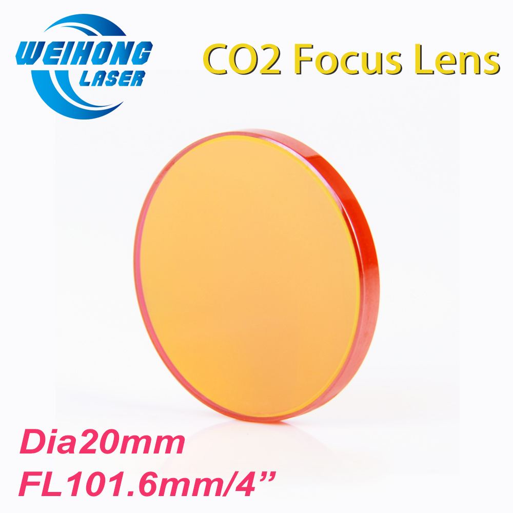 CN PVD ZnSe Co2 Laser Focus Lens Diameter 20mm Focal Length 101.6mm For Co2 Laser Cutting And Engraving Machine high quality usa znse co2 laser lens 20mm dia focal 63 5mm focus length for laser engraving cutting machine