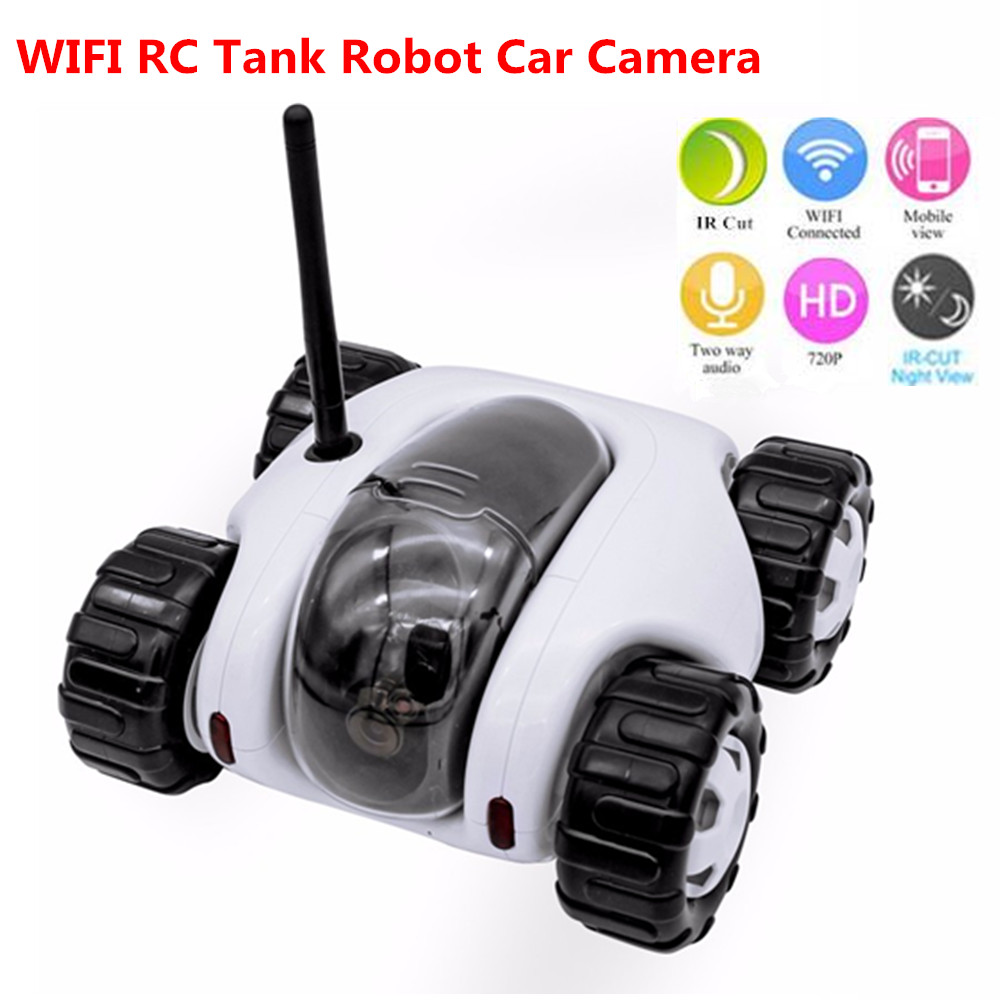 Wifi Remote Control Tank Robot Car Camera RC WiFi Internet P2P Night vision Toy car wireless