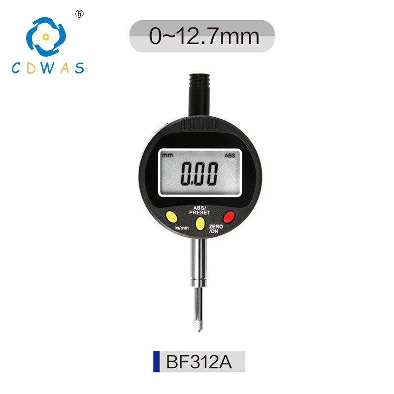 Digital Indicator Electronic Micrometer Digital 0 12 7mm High Precision 0 01mm Dial Indicator Gauge With Retail Box in Dial Indicators from Tools