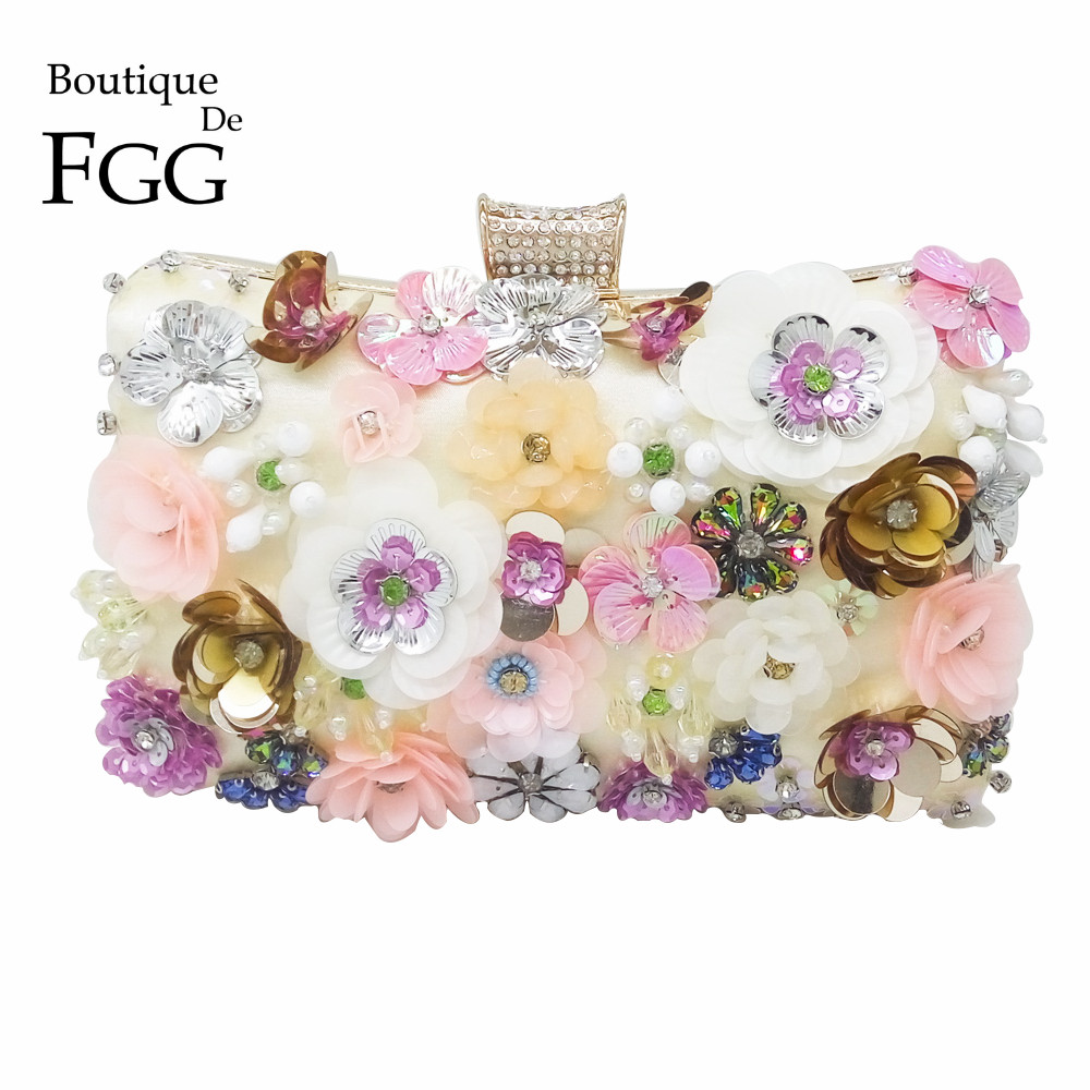 Multi Flower Bush Crystal Beaded Sequins Evening Wedding Clutch Bag For Women Chain Shoulder Handbags Bridal Metal Clutches Bag обувь для легкой атлетики health 505
