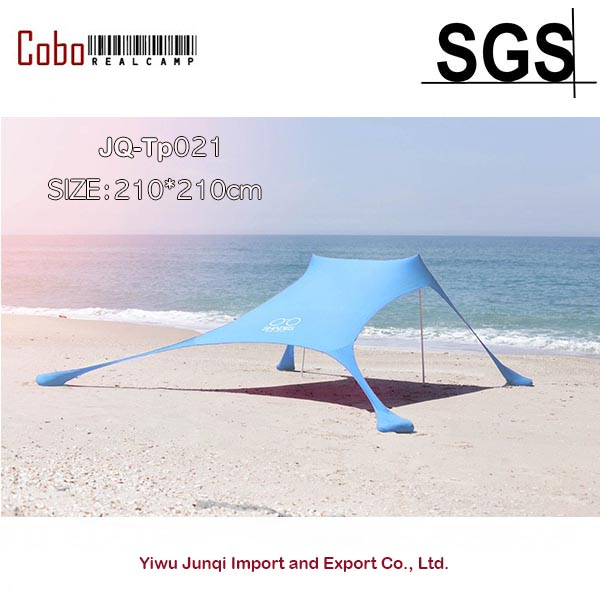 Portable Pergola Windproof Beach Sunshade and Gazebo Tent 210 X 210 with Sand Anchors Perfect Canopy