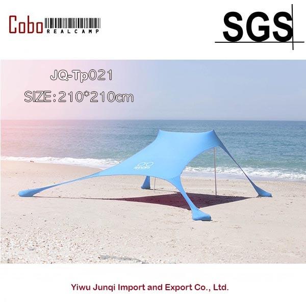 Portable Pergola Coupe-Vent Plage Parasol et Gazebo Tente-210X210-avec Ancres De Sable. Parfait Auvent Abri Pare-soleil