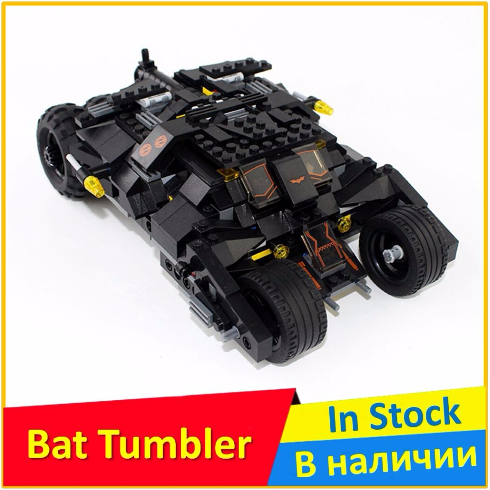 Building Blocks 7105 Tumbler Batman Bat Tumbler Compatible legoes Super Heroes Batman Toys For Children batman tumbler bat pot 7105 batmobile joker superman 7115 model building block kit bricks boy compatiable legoes kit gift set