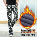 The new brand of men's casual pants with camouflage pants warm winter men's cashmere Mens XL
