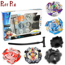 8styles Beyblade Burst Stadium Arena Metal Fusion Gyroscope Spinning Top Set With Launcher Classic Blades Toys For Children Kids(China)