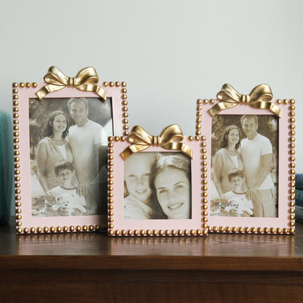 Creative bowknot photo frame home decoration ornaments studio