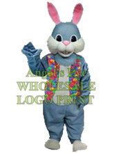 blue rabbit mascot costume easter bunny custom cartoon character cosply carnival costume SW3044(China)
