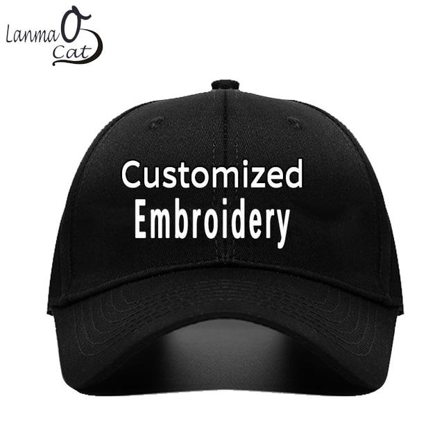 Lanmancao Own Design Custom Made Cap Embroidery Baseball Cap Men Women  Embrodered Logo Baseball Caps Ball Hat Free Shipping e9d8d97241a