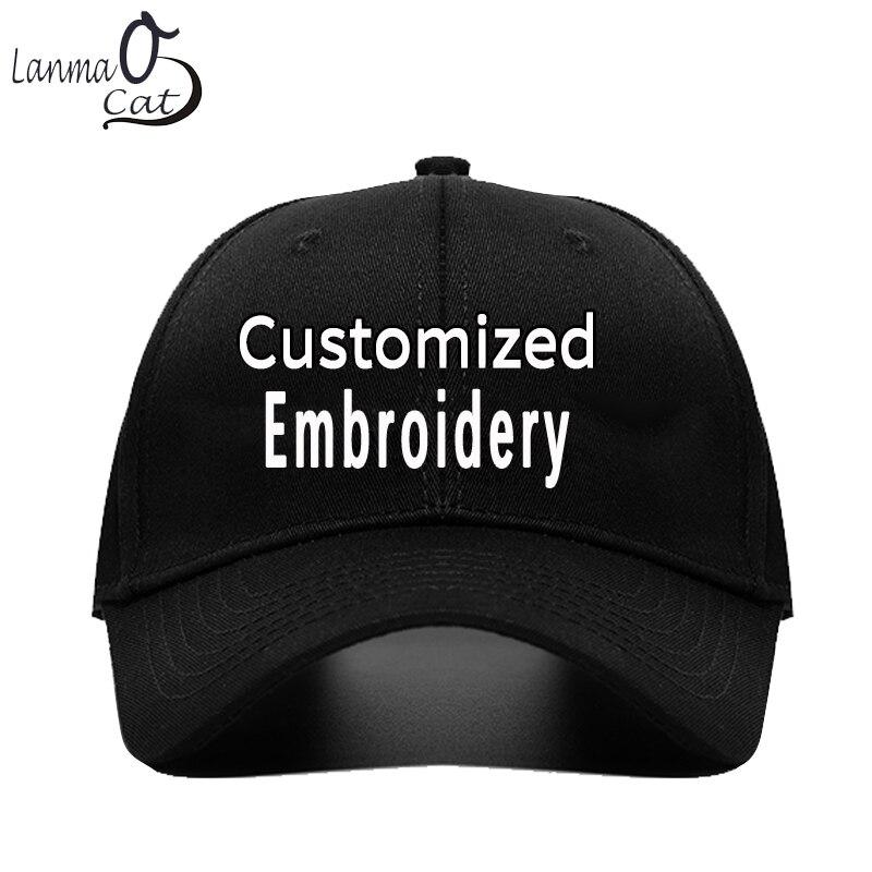 Lanmancao propre conception sur mesure casquette broderie casquette de Baseball hommes femmes brodé Logo casquettes de Baseball chapeau de balle livraison gratuite