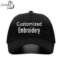 Lanmancat Own Design Custom Made Cap Embroidery Baseball Cap Men Women Embrodered Logo Baseball Caps Ball Hat Free Shipping