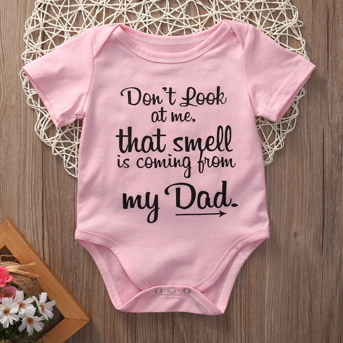 f8853f1877e1d Cotton Toddler Infant Baby Girls Clothing Bodysuit Short Sleeve Letter Cute  Jumpsuit Clothes Baby Girl Outfits 0 18M-in Bodysuits from Mother   Kids on  ...