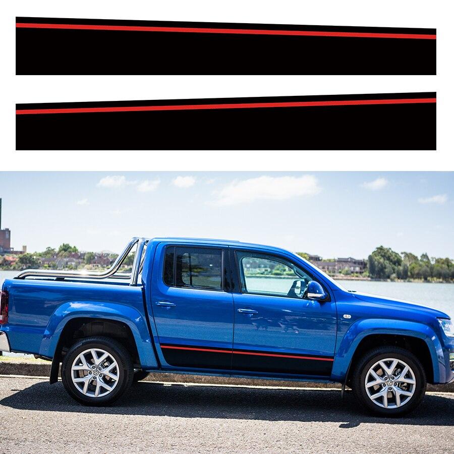 Autocollants de voiture cool côté rayure graphique vinyle autocollant de voiture pour autocollant volkswagen AMAROK 2009-2019