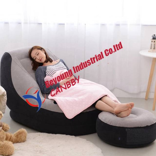 Fantastic Us 19 97 28 Off Intex Ultra Inflatable Outdoor Sofa Lounge Inflatable Chair With Ottoman Cupholder Foot Rest In Camping Mat From Sports Alphanode Cool Chair Designs And Ideas Alphanodeonline