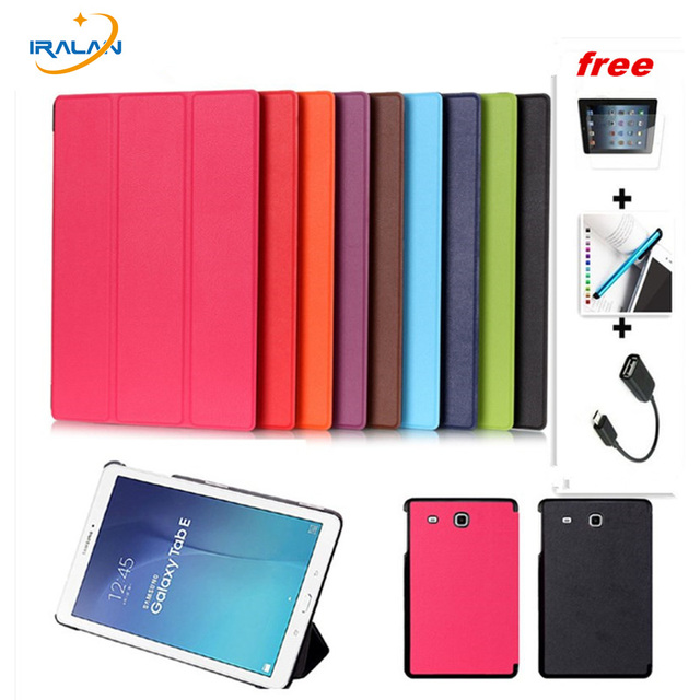 meet 7e238 9a2c0 US $5.76 27% OFF New Luxury Magnet Stand PU Leather case for samsung galaxy  tab E 9.6 T560 T561 9.6 inch tablet folio business Smart cover 4 in 1-in ...