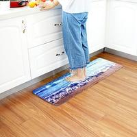 beibehang New European and American mats kitchen carpet bathroom mats non slip mats long section of high definition printing