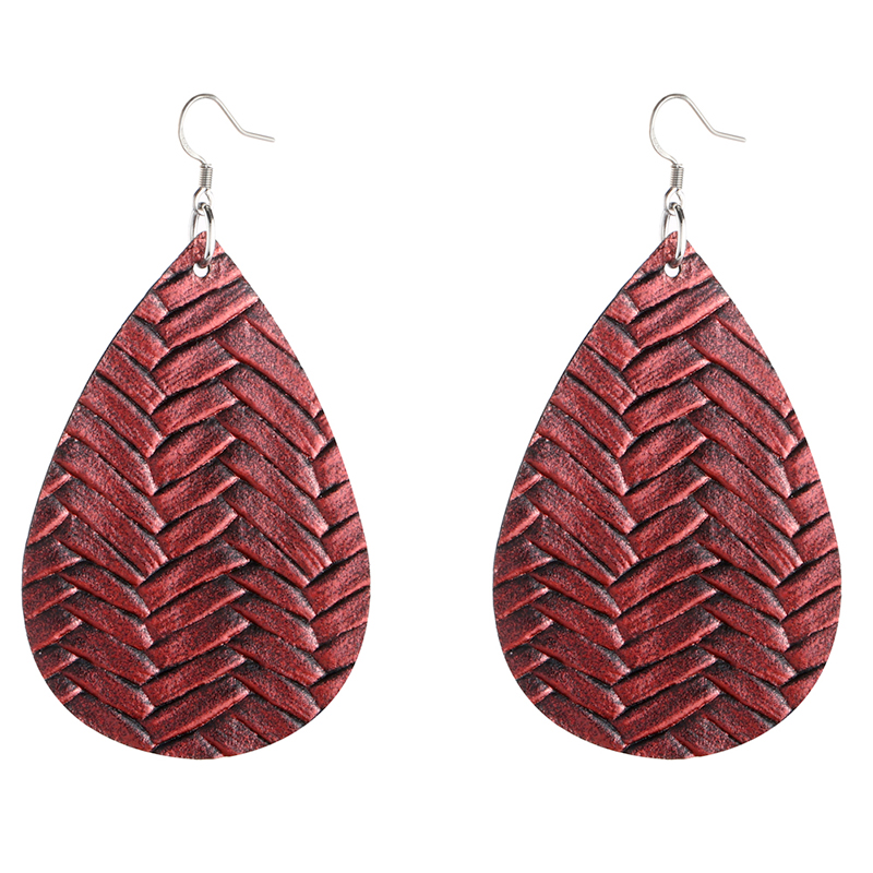 New Teardrop Leather Earrings Petal Drop Earrings Antique Lightweight S925 Carved Stainless Steel Earrings For Women Gifts 9