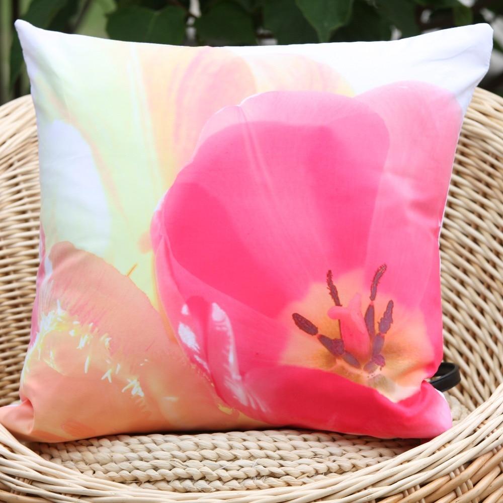 2017 New Arrival Red Petal Pink Flower Pattern Microfiber Decorative