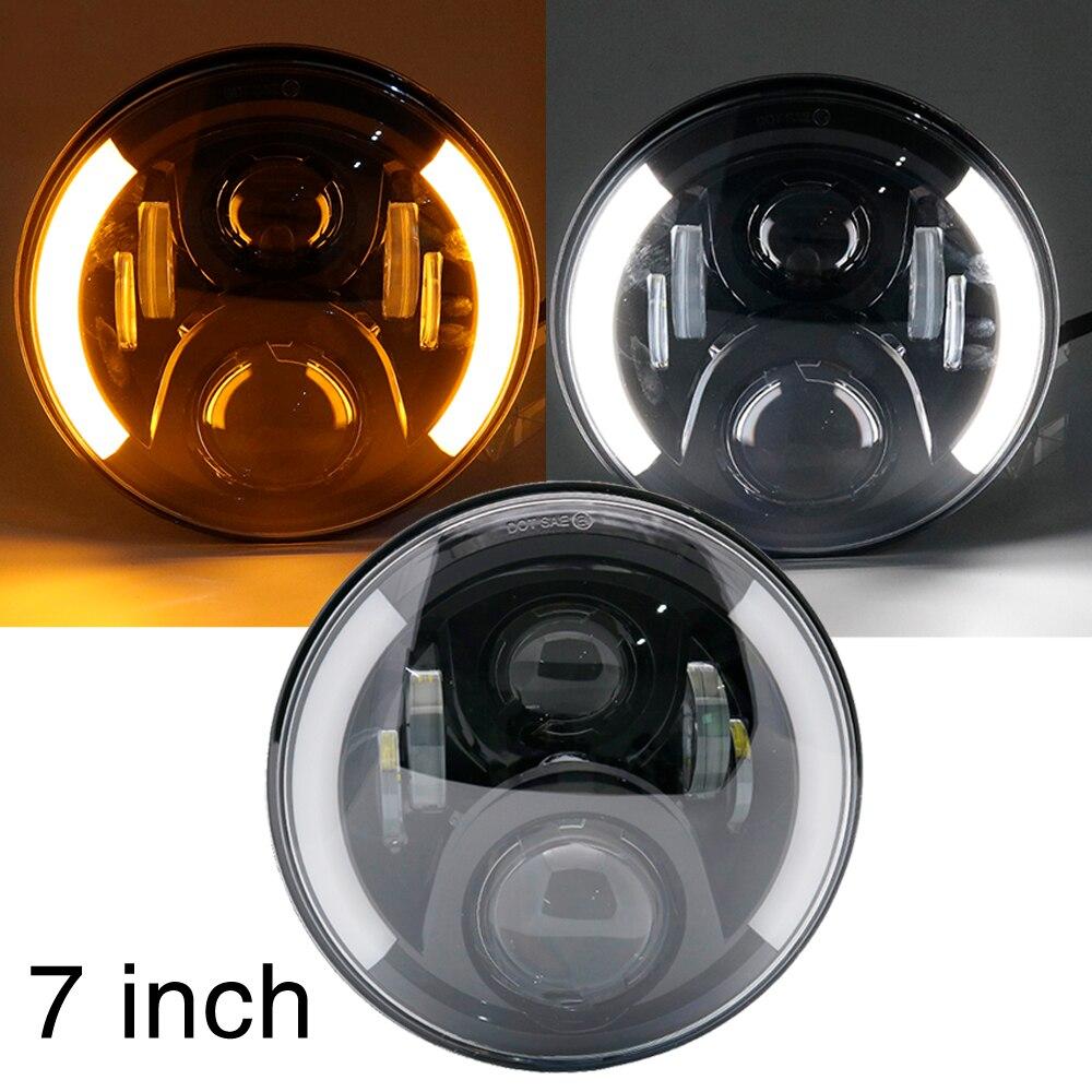 For Jeep Wrangler Led Headlight 7inch Round High Low Beam 12v 24v Lights headlamp For Lada