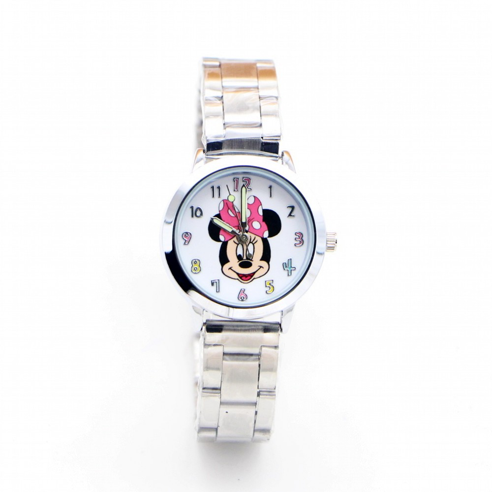 2019 New Minnie Mouse Desgin Brand Women Watch Stainless Steel Casual Quartz Girls Children Watches Relojes Montres Kol Saati
