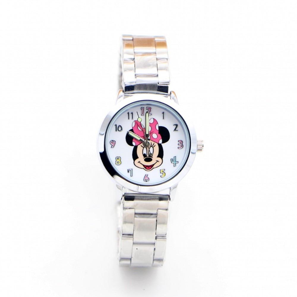2019 New Minnie Mouse Desgin Brand Women Watch Stainless Steel Casual Quartz Girls Children Watches Relojes Montres Kol Saati