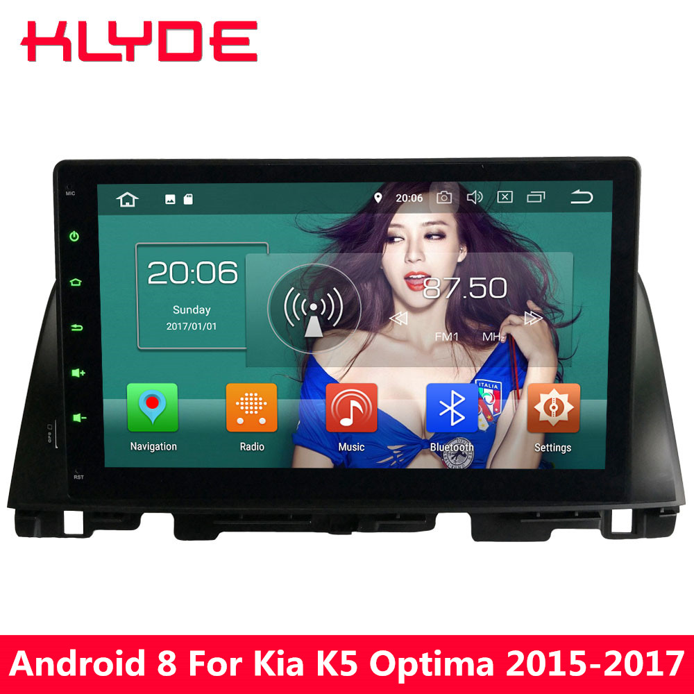 KLYDE <font><b>4g</b></font> WIFI <font><b>Android</b></font> <font><b>8.0</b></font> 10,1 ''Octa Core 4 gb <font><b>RAM</b></font> 32 gb <font><b>ROM</b></font> <font><b>PX5</b></font> RDS Auto DVD Multimedia player Radio Für Kia K5 Optima 2015-2017 image