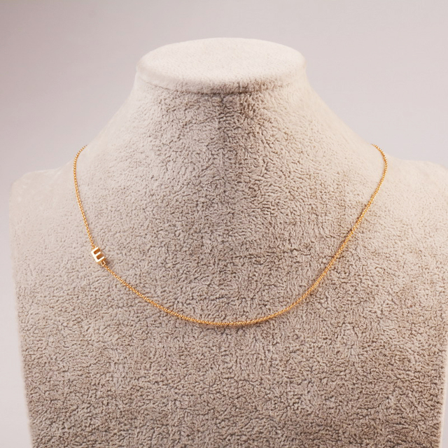 1bb793476f7 US $1.69 40% OFF|Simple Gold Filled Initial Sideway Necklace Initials Name  Necklaces Personalized Pendant for Women Girls Best Birthday Gift -in ...