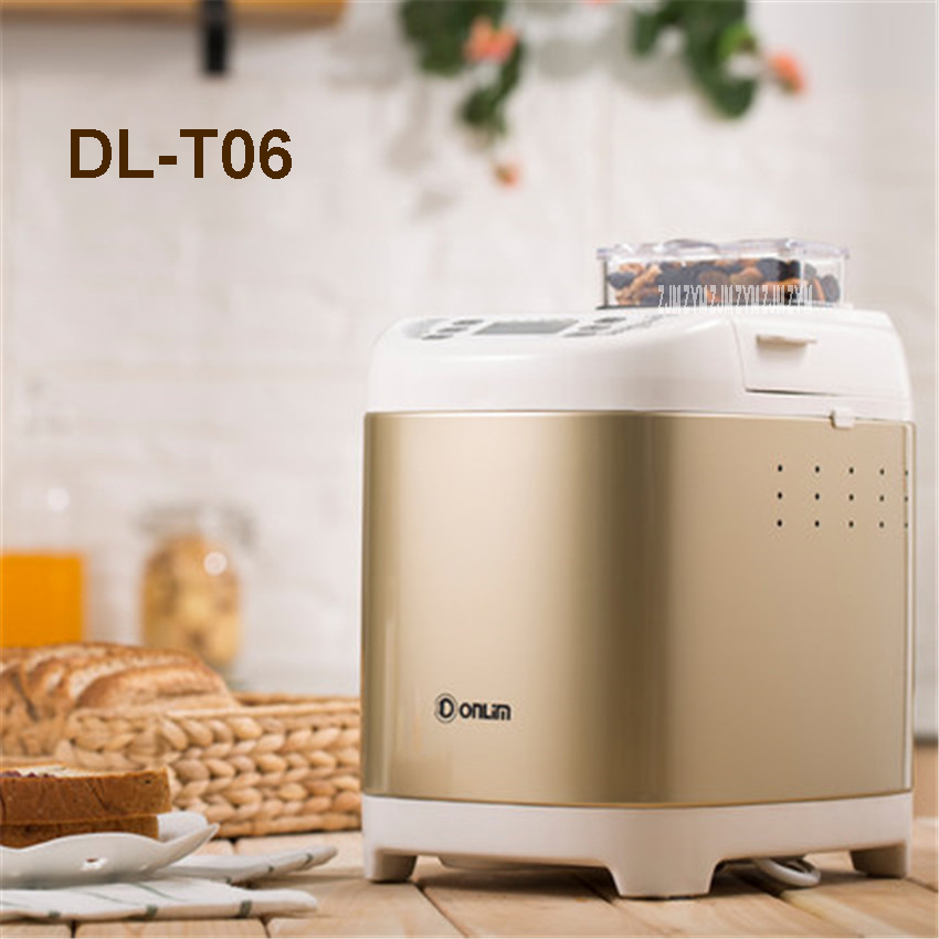 DL-T06 220V/50hz automatic feeding machine multifunction machine and cake machine to make bread  13 hours Appointment time 450W new hot steamed bread machine home full automatic intelligent and noodles cake rice bag bread makers amb 512 bread machine 220v