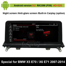 Android 9.0 Car Audio Vdieo Player for BMW X5 E70 (2007-2013)/ for BMW X6 E71 (2007-2014) Car original Screen to upgrade 10 25 touch android 7 1 car radio gps navigation for bmw x5 e70 2007 2013 bmw x6 e71 2007 2014 intelligence car multimedia