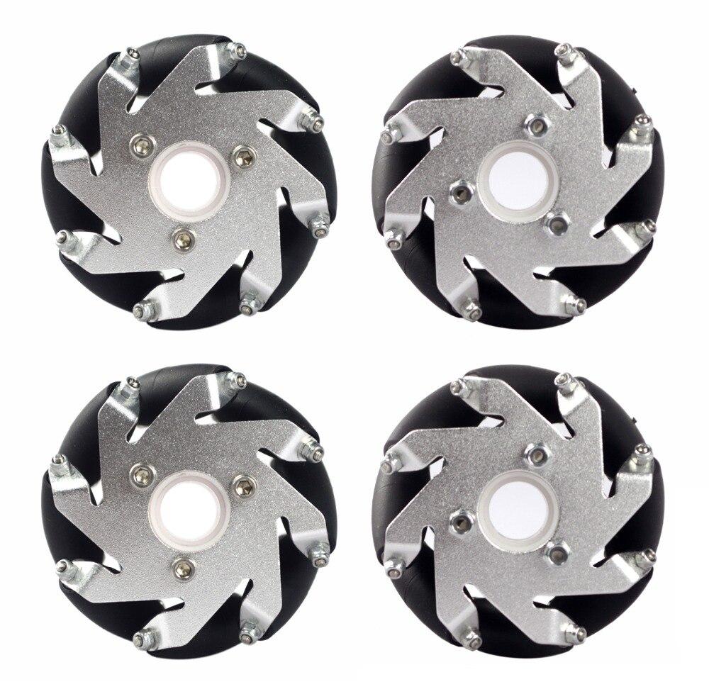 60mm Aluminum LEGO Compatible Mecanum wheel set(2Left,2Right) Basic 14159
