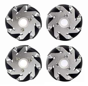 60mm Aluminum LEGO Compatible Mecanum wheel set(2Left,2Right) Basic 14159 - DISCOUNT ITEM  0% OFF All Category