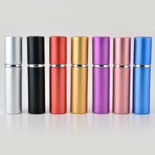 5 мл мини Портативный для путешественника металлический флакон для парфюма с распылителем и пустой парфюм чехол с красочными для мужчин;