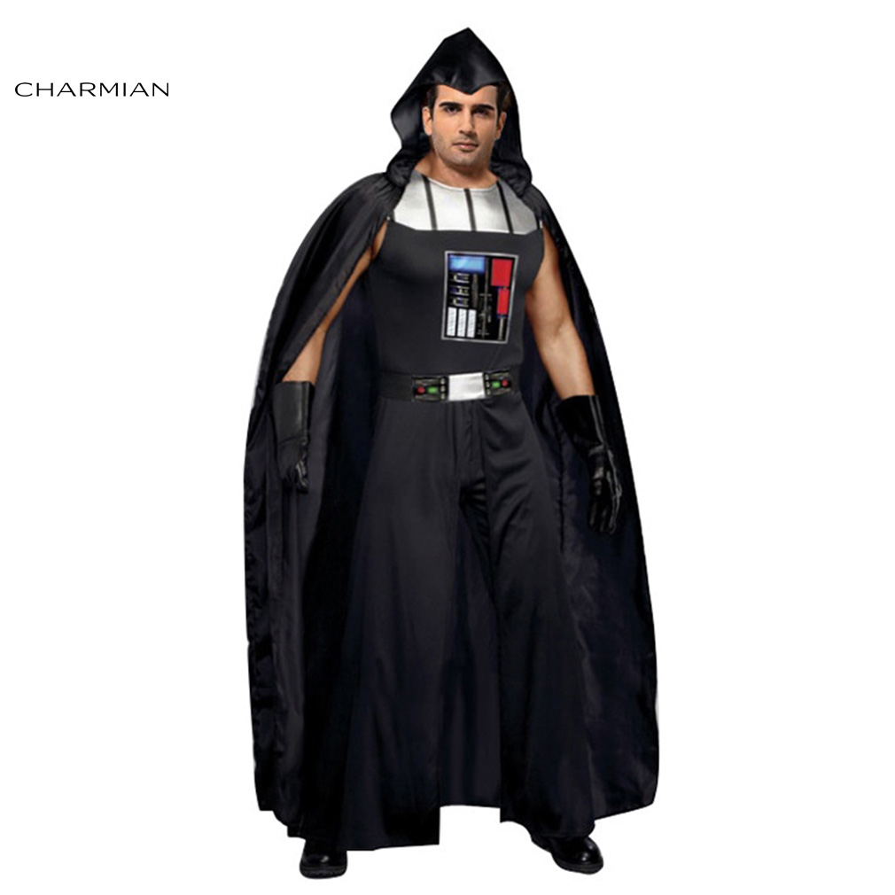 Charmian Men's Darth Vader Halloween Costume Adult Men Cosplay Carnival Party Fancy Costume Clothing