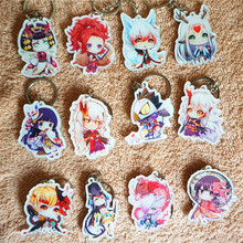 12pcs/set Anime Keychain Onmyoji Minamoto Kagura Onmyoji Meikai No abeino seimei All Members Keychain Keyrings De Llaveros