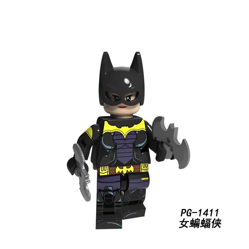 DC супер герой член ковбой Дэдпул Deathstroke Женщина-кошка Джокер Красный капюшон енот призрак Райдер блоки игрушки Legoed Минифигурка