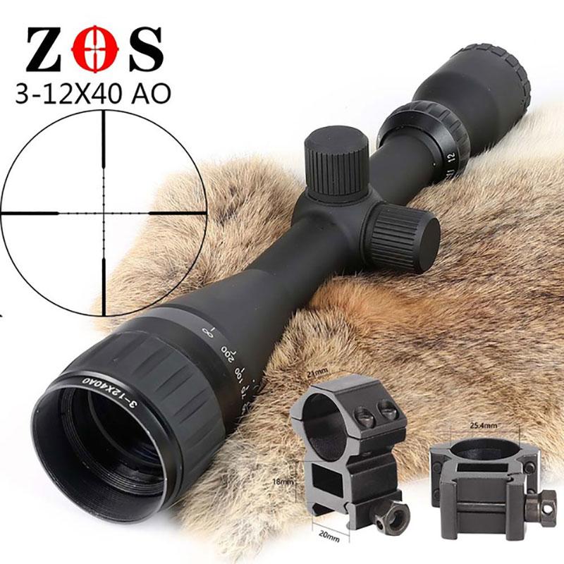 Lambul 3-12x40 Air Rifle Scope Riflescope Adjustable Mil-Dot Hunting Light Tactical Riflescope Reticle Optical Sight Scope tactical 3 12x40 duplex crosshair ao rifle scope reticle sight riflescope reticle optical sight hunting
