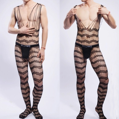 3f8f12ef03a Summer sales black hollow out pantyhose for men sexy mens jpg 400x400  Bodystockings for men