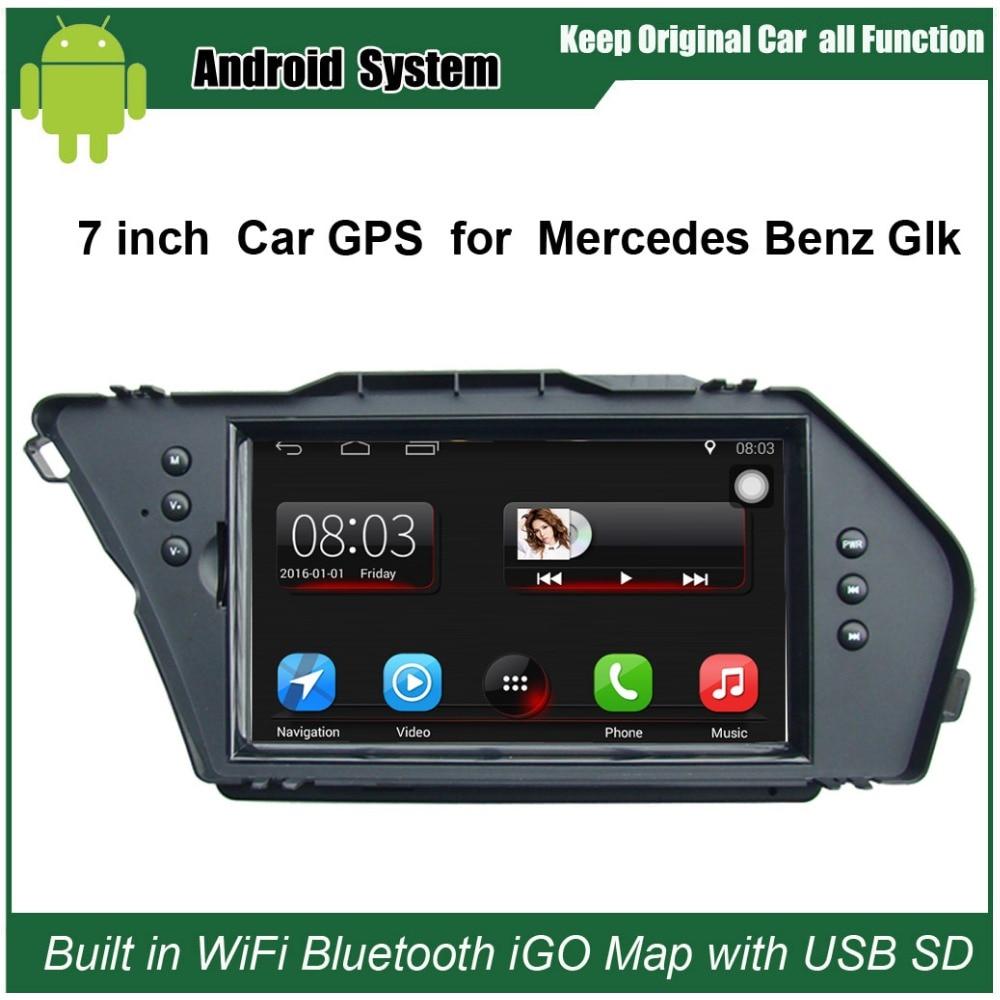 Android 7,1 обновленный оригинальный автомобильный радиоплеер подходит для Mercedes Benz Glk автомобильный видеоплеер встроенный WiFi GPS навигация Bluetooth