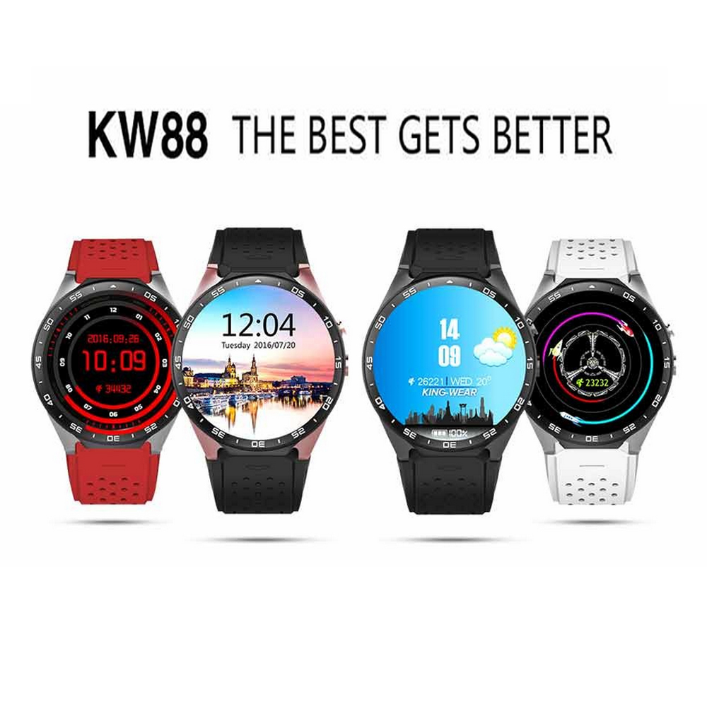 Original KW88 Fashionable High Definition Round Screen 3G Smart Sports Watch Touch Screen Intellgient Smart Phone WatchOriginal KW88 Fashionable High Definition Round Screen 3G Smart Sports Watch Touch Screen Intellgient Smart Phone Watch