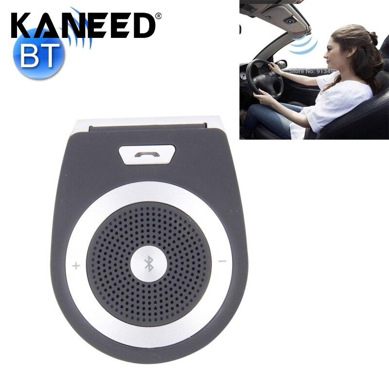 Stereo Bass Wireless Bluetooth Car Kit Speaker Speakerphone Handsfree Car Kit for iPhone 5 6 Samsung s5 s6 HTC Sony