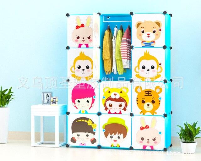 Bebé de dibujos animados mini gabinete gabinetes de almacenamiento ...