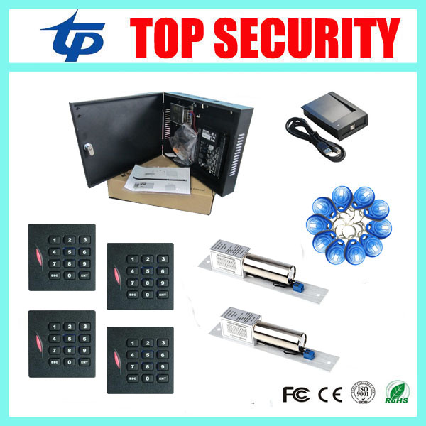 C3-200 door access controller access control panel with wiegand KR102 card reader and 280KG EM lock smart card access control